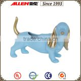 22.5 cm fiberglass blue big-eared dog animal shape planter pot,home&garden flower pot