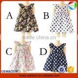 2016 New arrival summer boutique children dress wholesale flower new model girl dress for frock design kid dress (ulik-GD124)