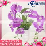 Single stem 6heads artificial silk fabric orchid flower export