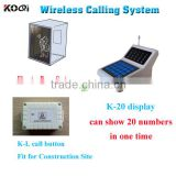 Wireless Call Bell System K-20+L for Construction Site