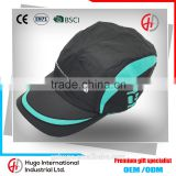 High quality comfortable soft casual outdoor sport custom promotional dry fit polyester running cap                                                                                                         Supplier's Choice