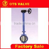 BV-LY-0075for difficult touched underground manual long-lever bare shaft butterfly valve for cement