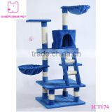 "48"" Cat Tree House Condo Scratcher Cat Climbing"