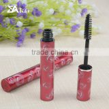 Empty beauty aluminium plastic cosmetic mascara container packages