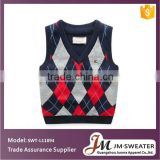 Organic cotton baby clothing kids argyle sweater vest baby knit vest infant knit vest sweater