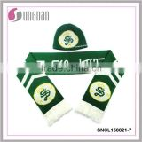 2015 Manufacture football scarf and hats fan scarf and hats acrylic scarf and hats