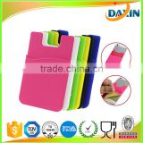 3M sticker back adhesive silicone phone pouch/ID card smart wallet