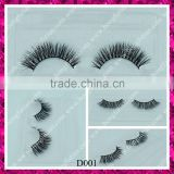 Hot Top quality 3D real mink fur false eyelashes individual eyelash with custom packaging