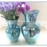 Antique finished Home decor color big glass vase for wedding decoration with two designs