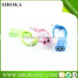 Customized colors earphone splitter cable 3.5mm music audio headphone jack splitter for ipod