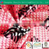 European-style velvet fabric/ short plush fabric/ printed fabric