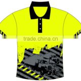 custom men 100% polyester bowling polo shirt