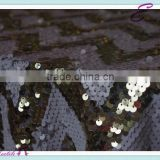 YHT#158 chevron sequin polyester banquet wedding wholesale cheap table cloth linen overlay
