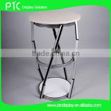 Advertising folding promotion exhibition display table, 2 layers