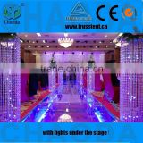 Alumninum adjustable acrylic glass wedding stage backdrop design                                                                         Quality Choice