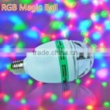 magic rgb led full color rotating lamp B22 base