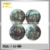 home decor 8 '' round house pattern ceramic chafing dish price, ceramic cow butter dish