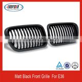 China manufacturer ABS material FOR BMW E36 3 series 1992-1997 matt black front grille