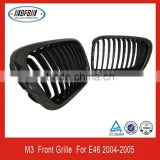 2 doors M3 carbon fiber front bumper grille car grill for E46 2004-2005