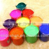 factory supply bright luster water-based fluorescent deep red printing pigment royal blue for fabrics 8009