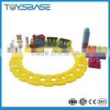 Plastic funny Baby building blocks train set