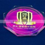 follower shape acrylic lucite cup coaster
