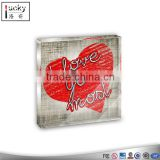 Red heart wholesale dome paperweight/Glass paperweight wholesale/high quality crystal customized paperweight