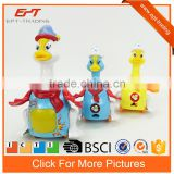 Cartoon battery operated plastic animal toy duck goose model set for kids