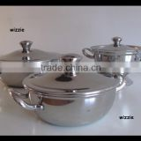 2015 hot sale stainless steel cookware kitchen baking tools and equipment oven