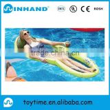 factory custom high quality inflatable mesh lounger,water mash pool flating mattress/inflatable pool lounger