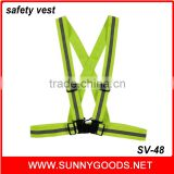 custom fluorescent yellow reflective belt with designs