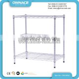 Adjustable 3 Layers Chrome Wire Metal Storage Shoe Rack