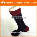 Custom Mens Socks small Square and Stripe pattern Business Custom Cotton Socks In Gift Box