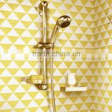 ZTCLJ JY-P-G03 Premium Mosaic Shower Tile Mosaic Glass Backsplash Tiles Lowes Golden Bathroom Wall Tiles