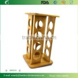 BH010 Bamboo Material Pepper Spice Rack | Spice Bottle Display Holder | Bamboo Rack | Bamboo Spices Organization