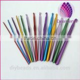 wholesale Aluminum single crochet hook 2-10mm one set 14pcs
