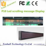 P10 double color led moving message board,led scrolling bar sign,Programme led messag board