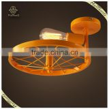 Modern Style Home Decorative Coloured Stainless Steel Ceiling Lamp, Metal Bicycle Ceiling Lighting
