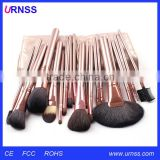 All natural wooden handle makeup brush set goat hair and camel hair