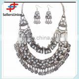 No.1 yiwu exporting commission agent wanted vintage style fashion african costume jewelery set necklace and earrings set