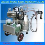 cow sheep and goat milking machine / double stainless steel buckets portable milking machine