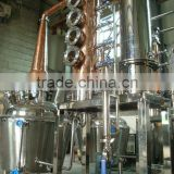 Fractional distillation equipment with column for making vodka whiskey and gin