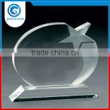 Jingyage Trade assurance wholesale luxury optical crystal star plaque award crystal diamond star award