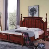 Tall headboard $200/set Walnut painting Rubber Wood Bedroom Furniture set in Pine bedboard