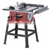 10 inch table saw with steel table and sliding extension table