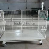 transport logistic roller trolley/vegetable storage trolley/rail trasportation trolley/stainless steel logistic trolley