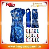 Hongen apparel 2016 Top quality basketball jerseys wholesale cheap USA basketball jersey custom uniforms