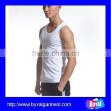 Mens white blank tank top summer gym sport vest tank top custom cotton bulk tank top for men