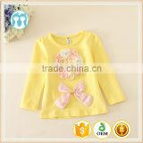 Retail/ wholesale baby girls candy undershirt and solid yellow t-shirt 1 piece,christmas outfits for kids
