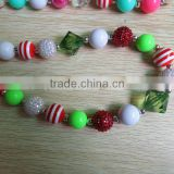 wholesale baby chunck beaded necklace different colour beads a big pendant on the necklace